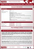 global online payment methods report 2013 - first half ... - yStats.com - Page 2