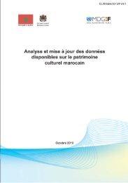Analyse et mise à jour des données disponibles sur le patrimoine ...