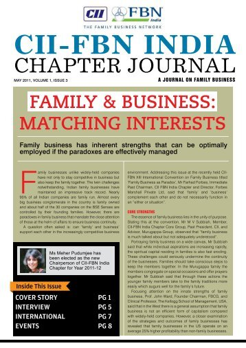CII-FBN India Chapter Journal - May 2011