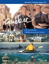 Profil de marché : Canada (principalement l ... - Tourisme Québec