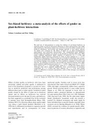 Sex-biased herbivory: a meta-analysis of the effects of gender on ...