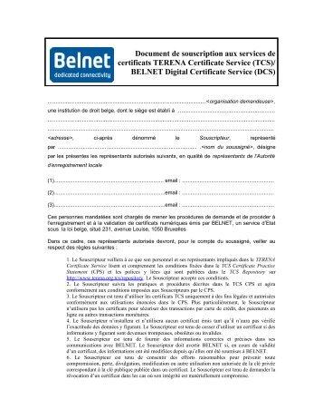 Applicants Document for TCS/DCS - Digital Certificates Service