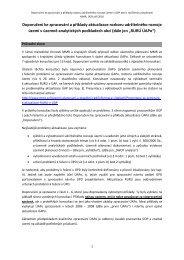 Doporučení ke zpracování a příklady rozboru udržitelného rozvoje