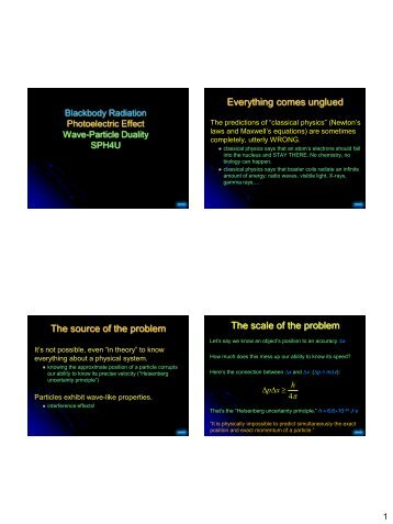 Four Quantum Paradoxes - The Burns Home Page