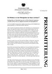 Pressemeldung der Bundestagsabgeordneten Cornelia Behm