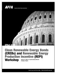90 EPACT CREBs Brochure - American Public Power Association