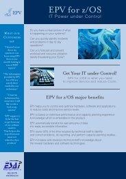 EPV For Z/OS Brochure - Enterprise Systems Associates, Inc.