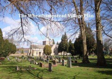 The Wheathampstead Village Plan - Wheathampstead Parish Council