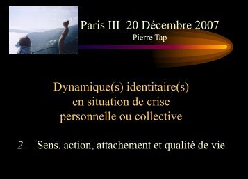 Sens - Pierre TAP