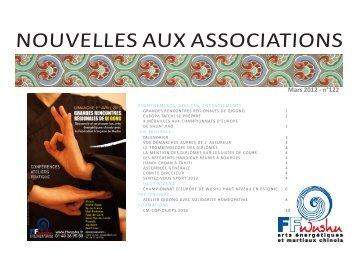 NOUVELLES AUX ASSOCIATIONS - Fédération française de wushu