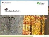 Arbeitskreis 1: Öffentlichkeitsarbeit - Waldbauernverband