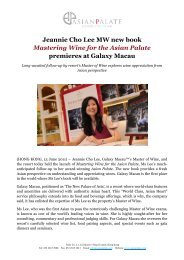 Jeannie Cho Lee MW new book Mastering Wine for the Asian Palate ...