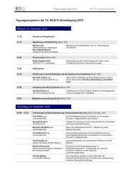 Tagungsprogramm der 10. IALE-D Jahrestagung 2010