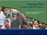 Strategic Plan 2008 - 2011 - Department of Advanced Education ...