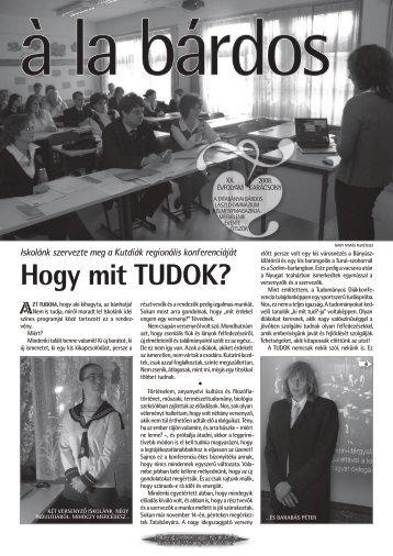 őszi szám - Bárdos László Gimnázium
