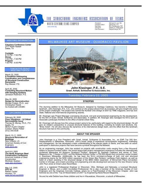 January 2005 - SEAoT