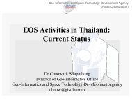 EOS Activities in Thailand: Current Status - GOFC-GOLD LC-IT Office