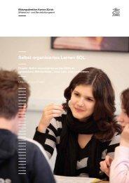 Selbst organisiertes Lernen SOL - Bildungsdirektion - Kanton Zürich