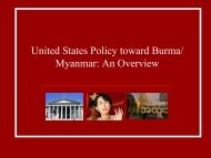 United States Policy toward Burma/ Myanmar: An ... - KontraS