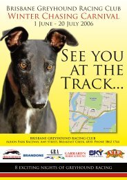 Winter Chasing Carnival - Greyhounds Queensland