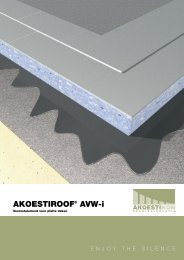 Akoestiroof® AVW-1 Voorzetelement voor platte daken