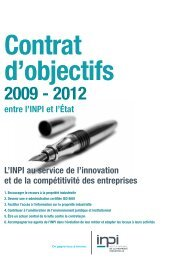 contrat d'objectif 2009-2012 de l'INPI