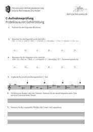 C-Aufnahmeprüfung - Amt für Kirchenmusik