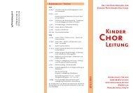 2012 / 2013 Kinder Leitung - Amt für Kirchenmusik