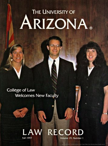 visiting faculty - College of Law - University of Arizona