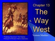 Chapter 13 The Way West - Rose State College