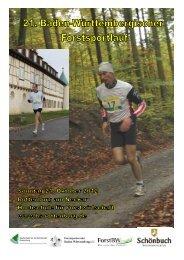 Anmeldung Zum 21. Forstsportlauf am 21. Oktober 2012