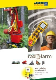 secure solutions for radio control of farm and ... - Elektro-Trading