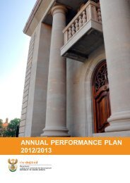 annual performance plan 2012/2013 - Department of Justice and ...