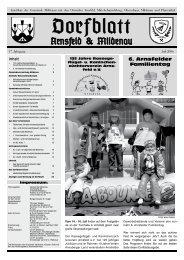 """6. """"Obermildenauer"""" Bauwagenfest 21.07. – 23.07.2006"""