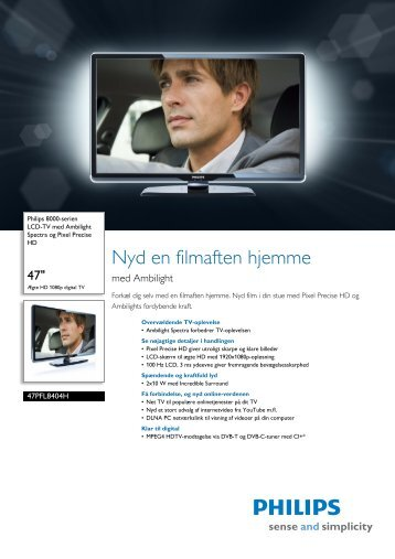 47PFL8404H/12 Philips LCD-TV med Ambilight Spectra og ... - Lomax