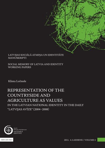 representation of the countryside and agriculture as values - Academia