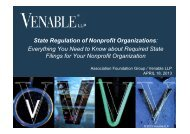 Everything You Need to Know about Required State ... - Venable LLP