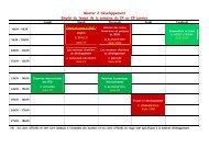 Master 2 Développement Emploi du temps de la semaine du 24 au ...