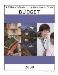 Citizen Guide To the WA State Budget 2008 - Funding WA's K-12 ...