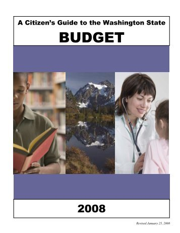 Citizen Guide To the WA State Budget 2008 - Funding WA's K-12 ...