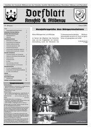 Dorfblatt Januar 2008 öffnen - Gemeinde Mildenau