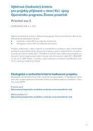 Výběrová (hodnotící) kritéria pro projekty přijímané v rámci XLI ...