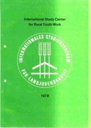 International Study Center for RuralVouth Work 1978 - 26 ...