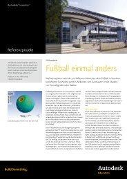 Fußball einmal anders - Autodesk