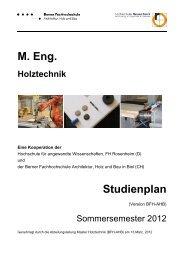 Studienplan - Hochschule für Architektur, Holz und Bau AHB - Berner
