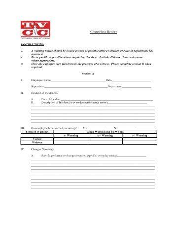 employee disciplinary form