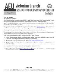 PCA Bulletin August 2010