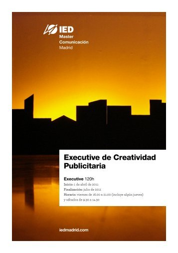 Master en Comunicación, Marketing y Publicidad en ... - IED Madrid