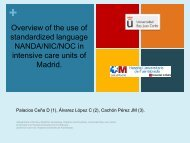 Overview of the use of standardized language NANDA/NIC/NOC in ...