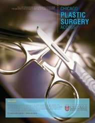 plastic surgery - The Department of Surgery - University of Chicago